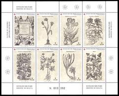 Ordre De Malte SMOM 0767/73 Herbier , Géranium , Tulipe , Gentiane , Fleurs , Patate - Heilpflanzen