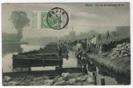 BELGIUM MENEN - MENIN - La Lys Et Rouissage De Lin - Menen
