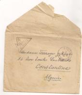 ENVELOPPE FM DE 1944 ADRESSEE A CONSTANTINE / CENSURE 2402 CROIX DE LORRAINE  B1097 - Marcophilie (Lettres)