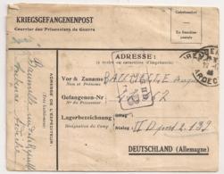 1940 LETTRE DE AUBENAS A STALAG II D / PRISONNIER DE GUERRE / KRIEGSSGEFANGENENPOST   B1097 - Marcophilie (Lettres)