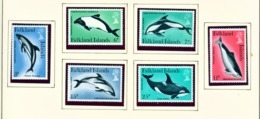 FALKLAND ISLANDS - 1980 Dolphins And Porpoises Set Unmounted/Never Hinged Mint - Falklandinseln