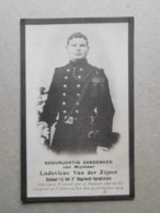 Ludovic Van Der Zijpen Wemmel 1890 = October 1914 / WW1 Soldaat Bij Het 2e Regiment Karabiniers - Décès