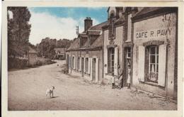 D41 - OIGNY - RUE PRINCIPALE - Café R. PAVY  - Couple Avec Enfant Devant La Porte Du Café - Chien - Carte Colorisée - Sonstige Gemeinden