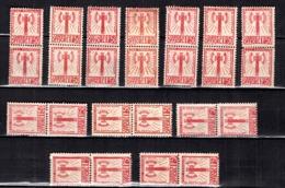 France Service Francisque YT N° 8, Douze Paires Neufs (*). B/TB. A Saisir! - Dienstpost