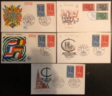 France - FDC - Premier Jour - Lot De 5 FDC - Thématique Europa - 1966 - FDC
