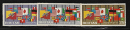 Bhoutan 1964 Yvert 38/40 Neufs** MNH (AA48) - Bhutan
