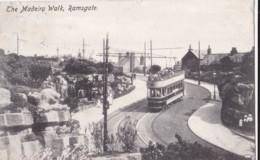 AM56 The Madeira Walk, Ramsgate - Tram, C1904 Kent Postcard - Ramsgate
