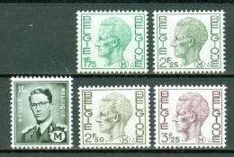 België/Belgique 1967/75 - M 1/5** MNH / Neuf Sans Charnière / Nieuw Zonder Scharnier - Militär (M-Marken)