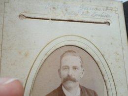 """CDV ALLIER  """"cousin GUINARDpere Du Docteur  Photo CHERI ROUSSEAU VICHY Sortie D'un Album Provenant De CUSSET - Ancianas (antes De 1900)"""