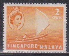 SINGAPORE Scott # 29 MH - QEII & Sailboat - Singapur (...-1959)