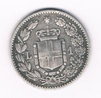 1 LIRE 1886 R ITALIE /8056/ - 1878-1900 : Umberto I.