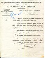 19.CORREZE.NEUVIC.ENTREPRISE DE TRAVAUX PUBLICS.E.DUMONT & G.MOREL ENTREPRENEURS. - Old Professions