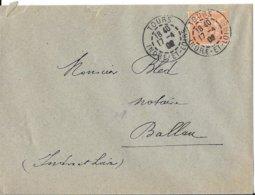 INDRE ET LOIRE 37 -  TOURS  - CACHET RECETTE R A3  - 1902 -  CATALOGUE A LAUTIER - Cachets Manuels