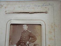 """CDV ALLIER  """"Alfred MARCHAND Militaire"""" Photo SILLI NICE VICHY Sortie D'un Album Provenant De CUSSET - Ancianas (antes De 1900)"""