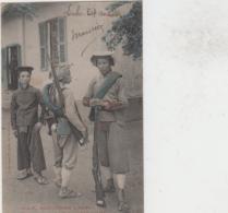 VIET NAM COCHINCHINE MYTHO TIRAILLEURS ANNAMITES EN TENUE DE CAMPAGNE COLORISEE TBE - Viêt-Nam