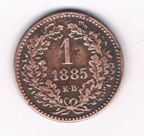 1 KRAJCAR 1885 KB  HONGARIJE /8058/ - Hungary