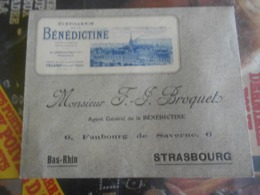 Vieux    Enveloppe Distillerie  Benedictine     Froquet / Srasbourg - Food