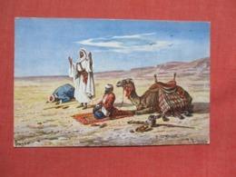 Signed Artist Desert Scene   Ref 3680 - Other