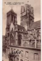 DEPT 14 : édit. L L N° 73 : Caen église Saint Jean Et La Tour Penchée - Caen