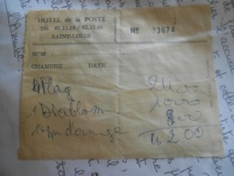 Vieux   Recu   Facture / Hotel De La Poste   Saint Louis/    Senegal - Invoices & Commercial Documents