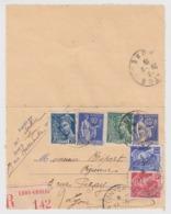 CARTE-LETTRE. ENTIER PAIX 65c AVEC COMPLEMENT. 27 9 39. RECOMMANDE LYON-GROLEE POUR LYON. 2,70Fr - Postmark Collection (Covers)