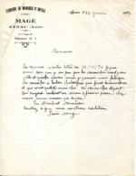 46.LOT.AYNAC.FABRIQUE DE MANCHES D'OUTILS.MAGE. - Old Professions