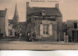 Blainville     -    La  Rue  De  L' église. - Blainville Sur Mer