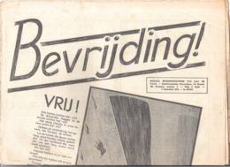 """KRANT """"BEVRIJDING"""" SPECIAAL BEVRIJDINGSNUMMER VAN K.A.J. EN V.K.A.J. DD. 5 SEPTEMBER 1944 (2 Scans) (OD 473) - Anuncios"""