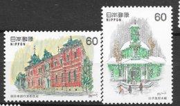 Japon N° 1403 Et 1404 Architecture Moderne 4  Neufs  * *  TB = MNH VF Soldé ! ! ! Le Moins Cher Du Site ! ! ! - Neufs
