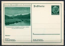 """German Empires 1933 GS Hindenburg,grün Mi.Nr.P221/049 """"Lernt Deutschland Kennen!--Ludwigstein,Ruine Hanstein""""1 GS - Ganzsachen"""