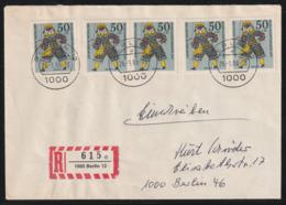 ORTSEINSCHREIBEN Mit BRD MiNr. 653 (MeF 5) Portorichtig Von BERLIN 12 26.-1. 88 -13 Nach BERLIN 46 - Briefe U. Dokumente