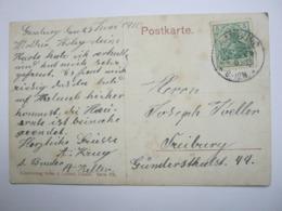 1910 , GAMBURG (Tauber) , Klarer Stempel ( KOS ) Auf Beleg - Briefe U. Dokumente