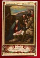Image Pieuse Religieuse Holy Card Chromo Chocolaterie D'Aiguebelle Peintre Ribéra L'Adoration Des Bergers - Chocolat - Aiguebelle