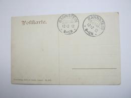 1912 , BANNSTEIN , Klarer Stempel ( KOS ) Auf Beleg - Briefe U. Dokumente