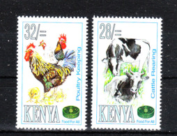 Kenya  -  1995. Gallo, Galline, Vitelli. Poultry Keeping And Cattle Rearing. MNH - Farm