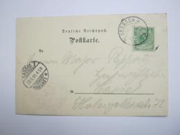18989 , SEEBACH , Klarer Stempel ( KOS ) Auf Beleg - Briefe U. Dokumente