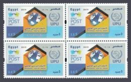 Egypt - 2019 - New - Block Of 4 - ( UPU - World Postal Day ) - MNH** - Organisaties