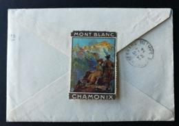 Enveloppe Hotel Beau Site Et Continental (Avec Sa Correspondance) Avec Cachet Convoyeur CHAMONIX AU FAYET - Storia Postale