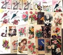 Lot De 65 CP -  Sur Le Thème: Fêtes, Enfants, Cartes Petites Formats (quelqu'unes En Double) - Ansichtskarten