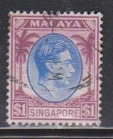 SINGAPORE Scott # 18 Used - KGVI - Singapur (...-1959)