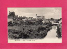 85 Vendée, TALMONT, L'Eglise Et Le Château, Animée, (L. L.) - Talmont Saint Hilaire