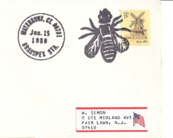 USA. Waterbury. Cachet Abeille - Bienen