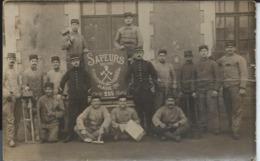 Carte Photo:Sapeurs Du 77e Classe 1910-Photo Allaire Au Fraut. - Otros Municipios