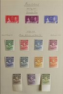 BRITISH AFRICA 1937-1952 KGVI SUPERB MINT COLLECTION On Leaves, Includes BASUTOLAND 1938 Set, 1948 Wedding Set, BECHUANA - Stamps