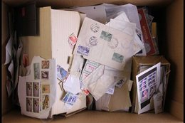 INTERESTING, MESSY BOX OF WORLD - WIDE Mint & Used Stamps, So Much Here With Rather A Lot Of Loose Stamps In Packets & G - Sellos