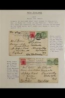 """1907 """"AROUND THE WORLD"""" POSTCARDS Pair Of """"London City Council"""" Postcards Franked KEVII ½d Pair With """"LCC"""" Perfins, Each - Stamps"""