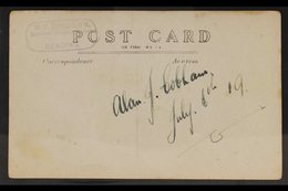 """SIR ALAN COBHAM - AVIATOR REAL PHOTO POSTCARD Inscribed """"Flying At Reading"""" With Cobham Pictured Standing In Front Of Hi - Stamps"""