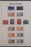 1945-26 VICTORY VERY FINE USED Complete Omnibus Issue For GB And The Br Empire (164 Stamps) For More Images, Please Visi - Sellos
