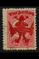 "1913 20c Rose Carmine, Overprinted ""Eagle"" In Red, Variety ""overprint Inverted"", SG 6 Pl II Variety (Mi 6x Var), Very Fi - Albania"