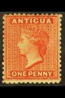 1872 1d Scarlet, Watermark Crown CC, Perf 12½, SG 14, Mint With Large Part Original Gum. For More Images, Please Visit H - Antigua & Barbuda (...-1981)